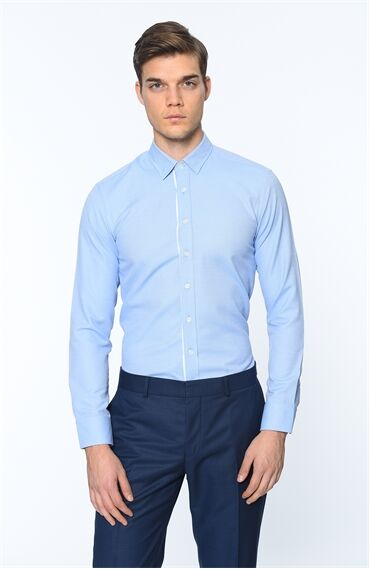Oxford Slim Fit Mavi Gömlek