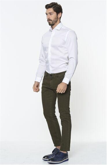George Hogg Beyaz Slim Fit Gömlek