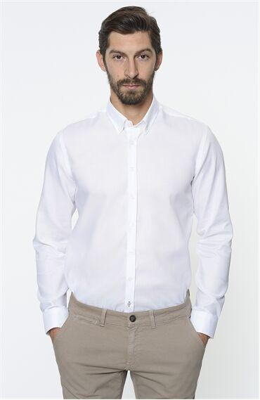 Oxford Slım Fit Beyaz Gömlek