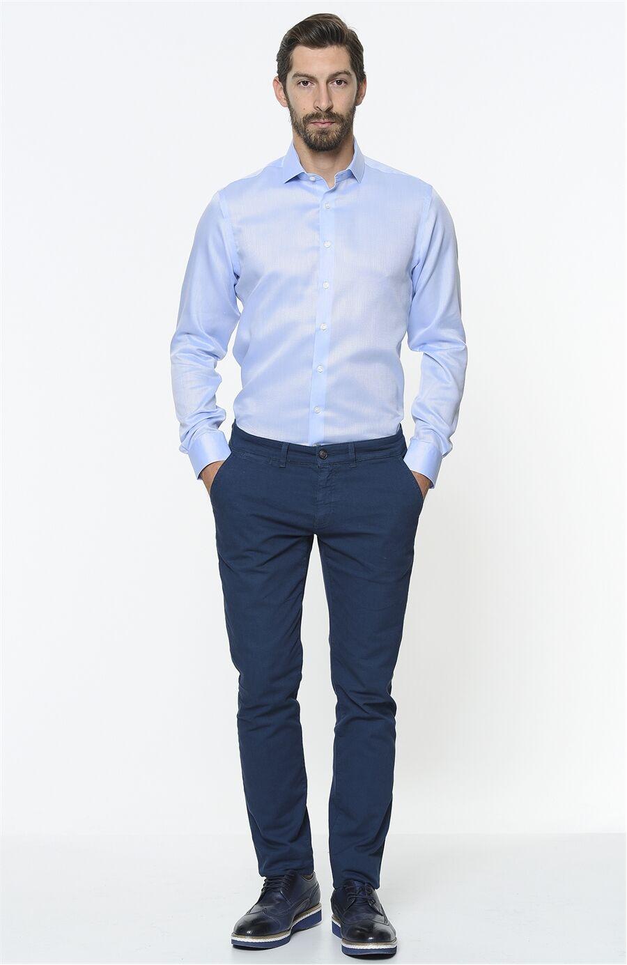 Armürlü Mavi Gömlek