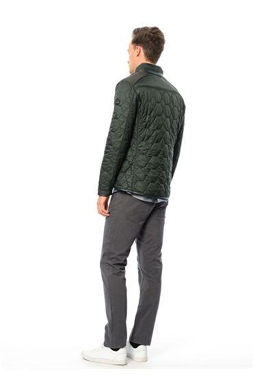 Kapitone Yeşil Coat Ceket