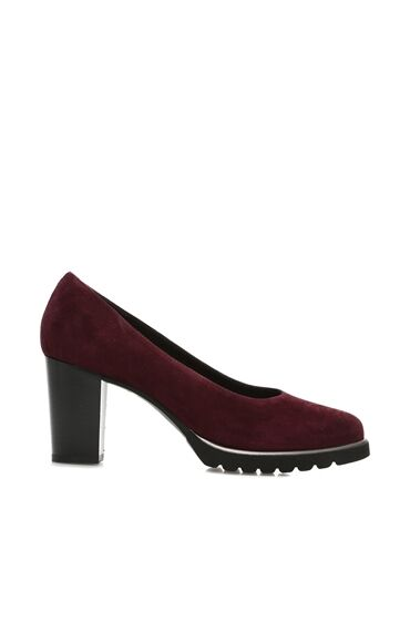 Bordo Süet Stiletto