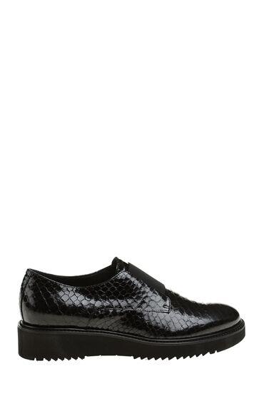 Yılan Baskı Siyah Ayakkabı