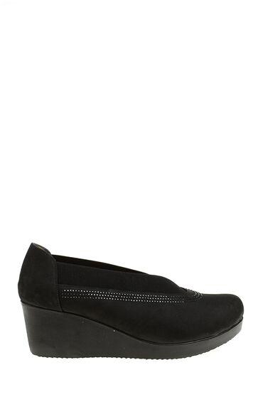 Siyah Feta Topuk Ayakkabı