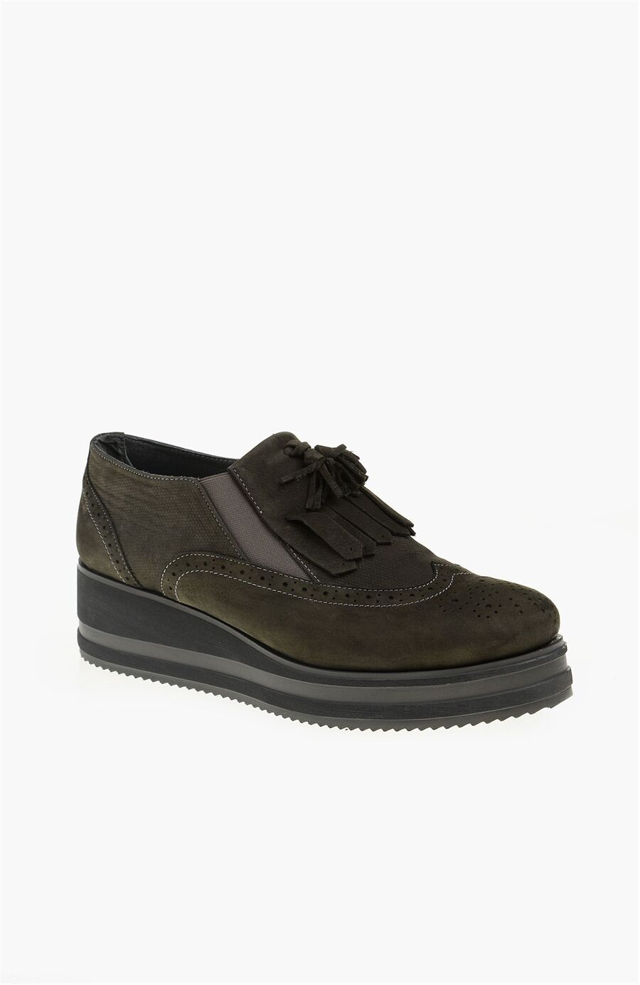 Nubuk Gri Kadın Ayakkabı