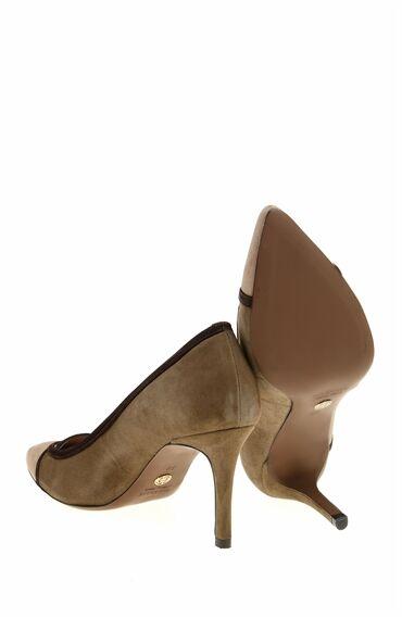 Haki Bej Deri Ayakkabı