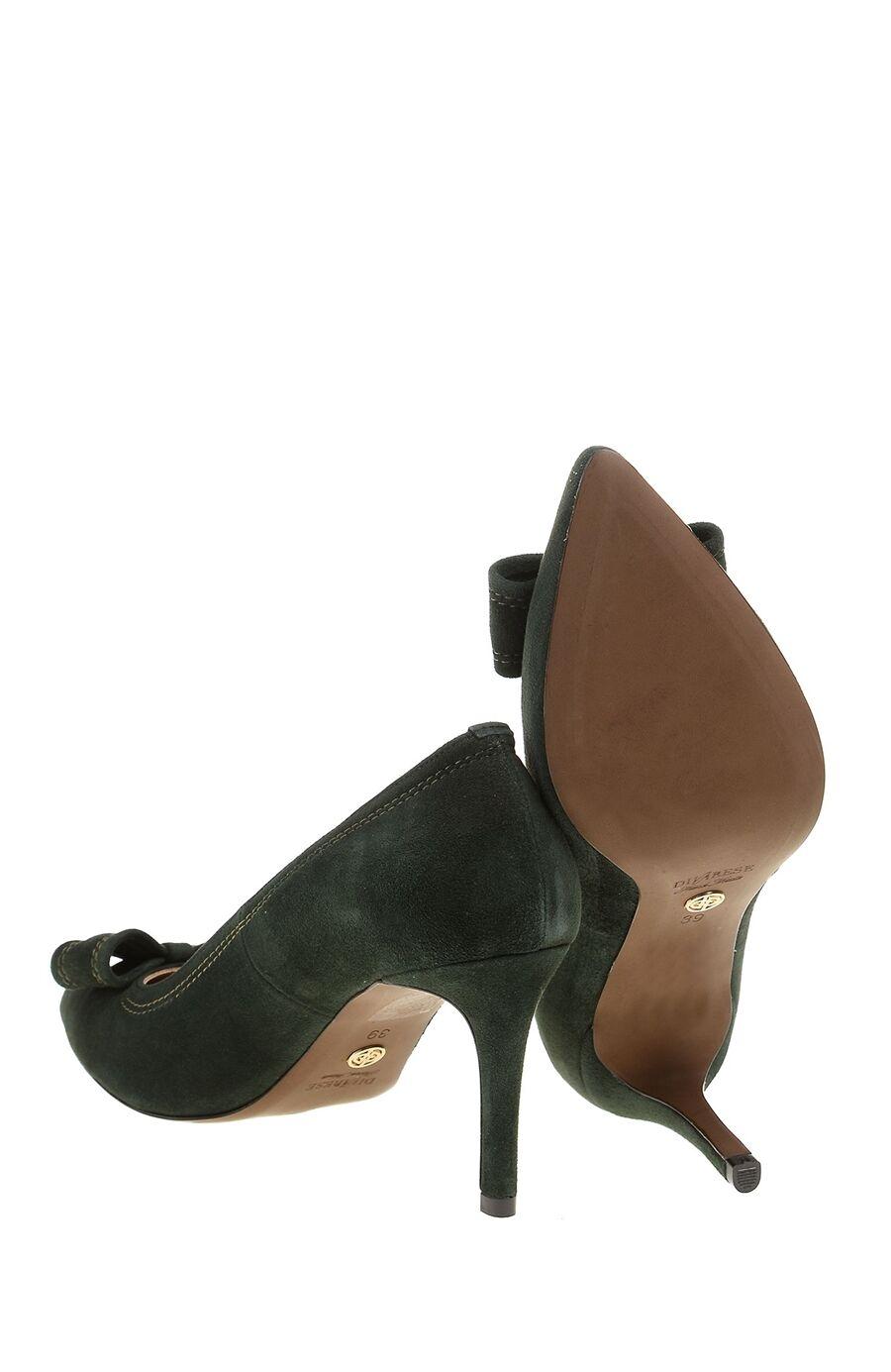 Süet Yeşil Kadın Stiletto