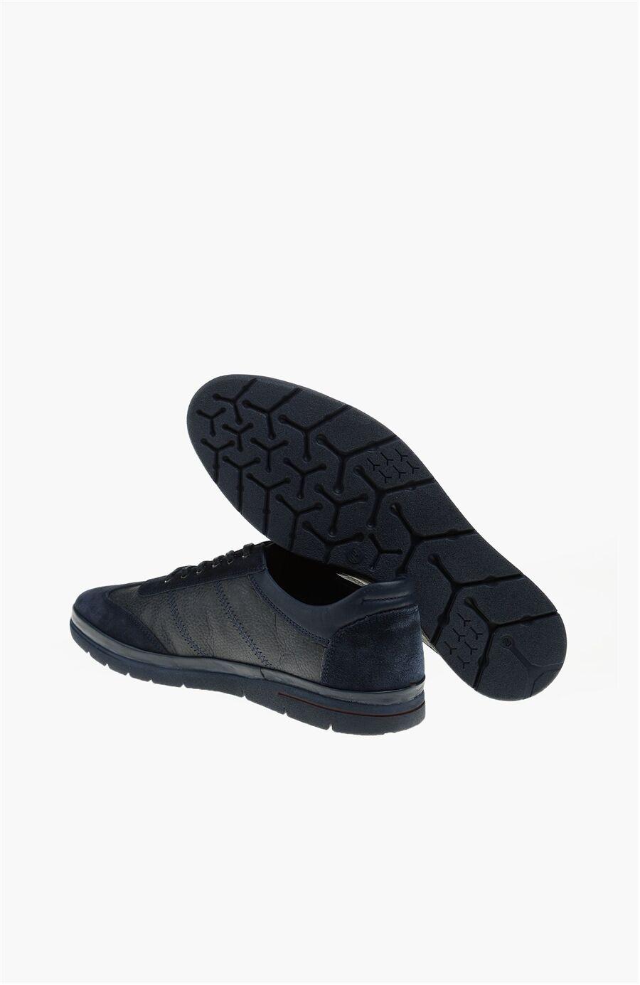 Desen Lacivert Ayakkabı