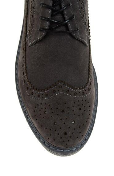 Gri Deri Ayakkabı