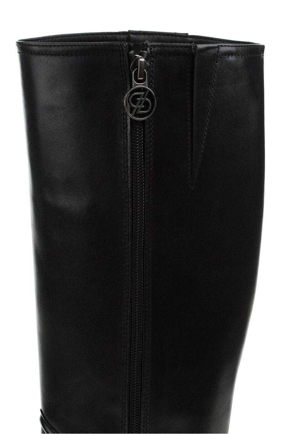 Siyah Fermuarlı Deri Çizme