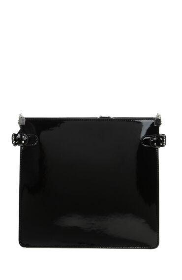 Siyah Zımbalı Zincirli Çanta