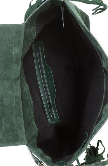 Yeşil Püsküllü Çanta
