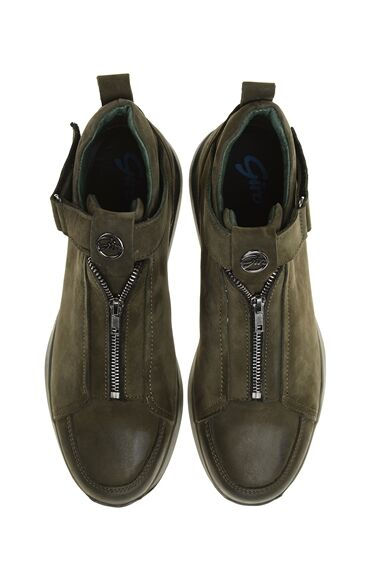 Nubuk Yeşil Sneaker Bot