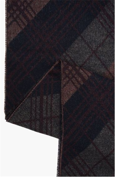 Desen Bordo Atkı + Eldiven Set