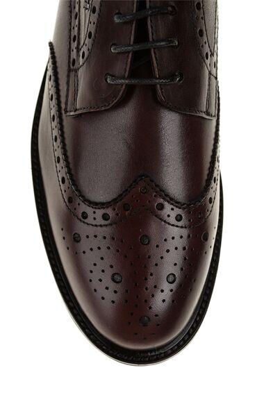 George Hogg Bordo Deri Ayakkabı
