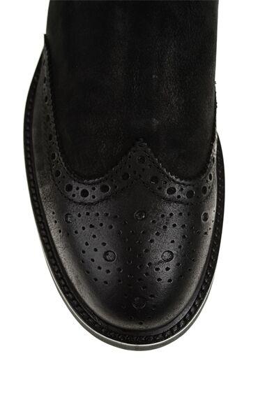 George Hogg Siyah Deri Bot