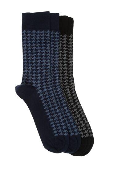 Siyah Lacivert 2'Li Çorap Set