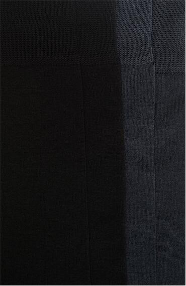 Merserize Antrasit 2'li Çorap Set