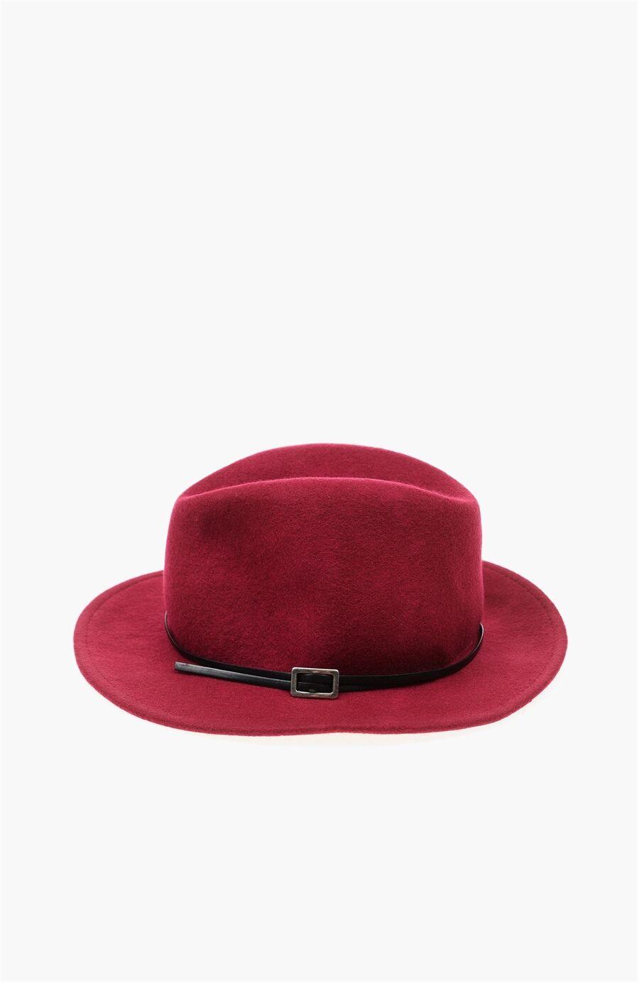 Yün Bordo Şapka