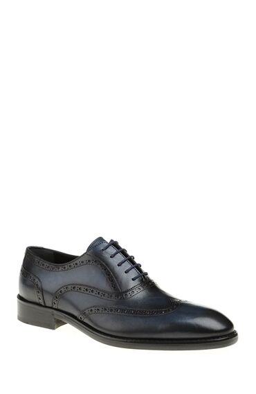 Deri Lacivert Ayakkabı