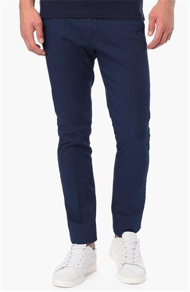 Jakarlı Koyu Mavi Pantolon