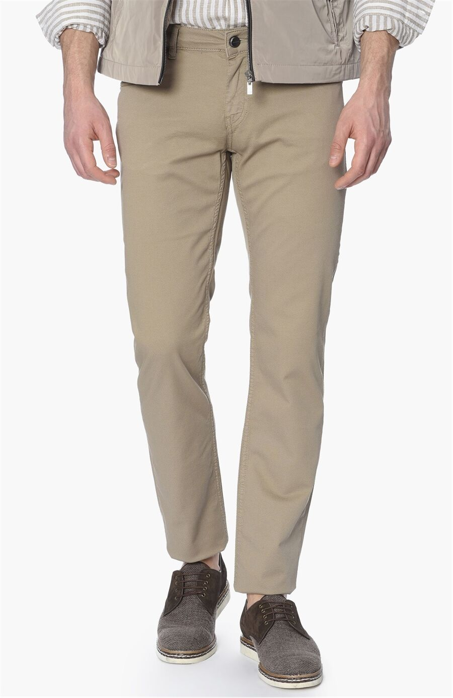 Slim Fit Camel Casual Pantolon