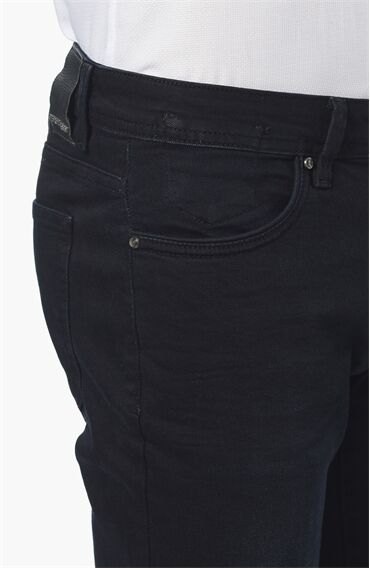 Slım Fit Lacivert Denım Pantolon