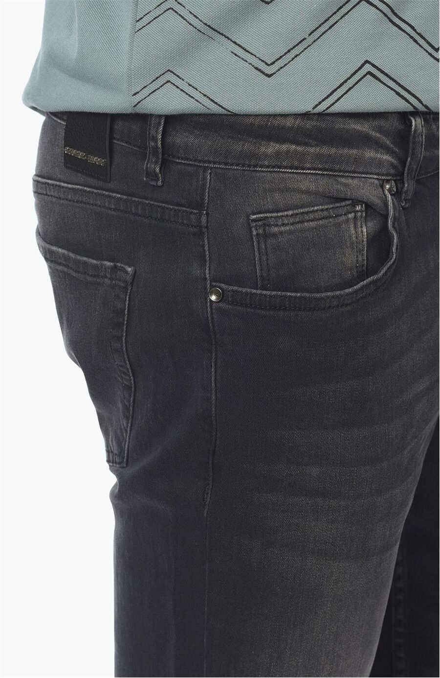 Antrasit Slim Fit Denim Pantolon
