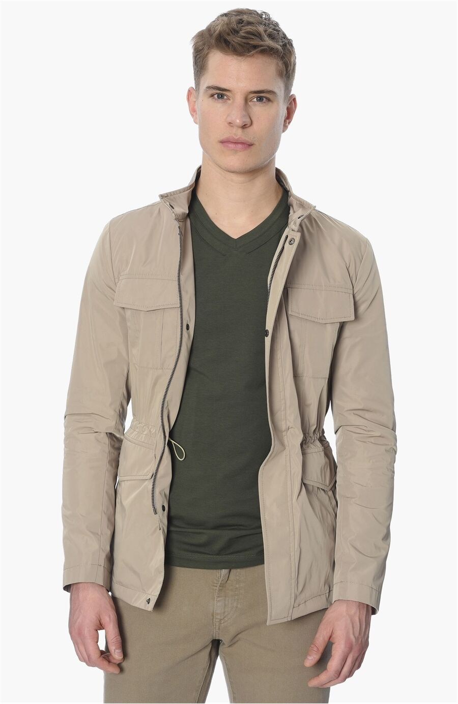 Taş Dik Yaka Coat Ceket