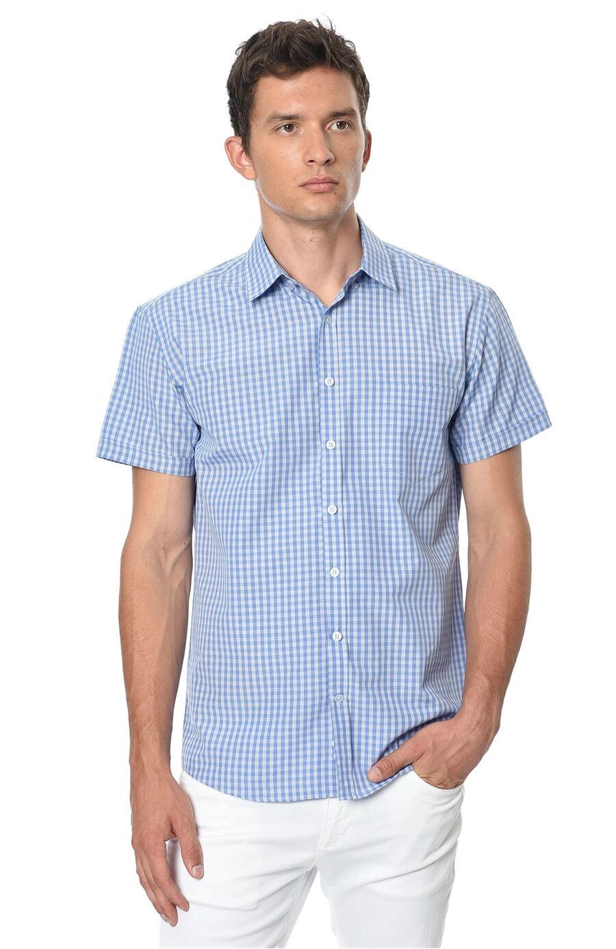 Ekose Regular Fit Mavi Beyaz Gömlek
