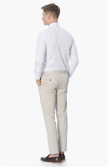 Balenli Slim Fit Beyaz Gömlek