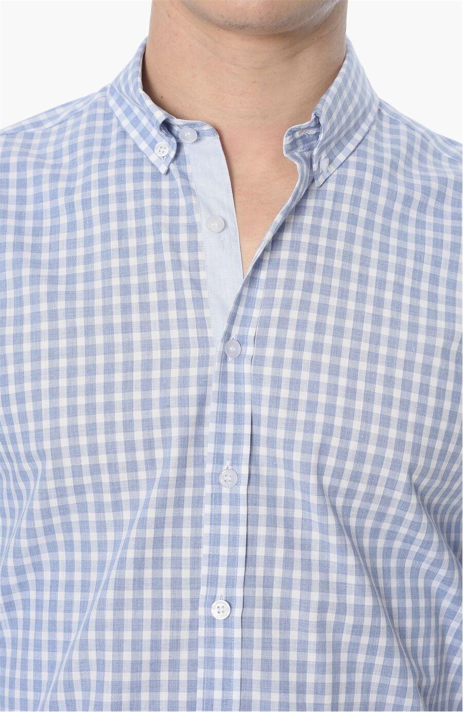 Ekose Regular Fit Mavi Gömlek