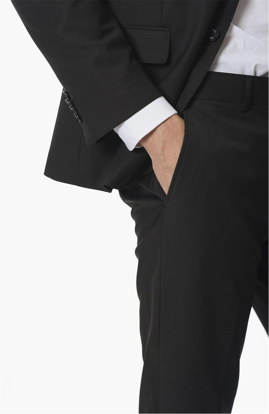 Regular Fit Siyah Takım Elbise