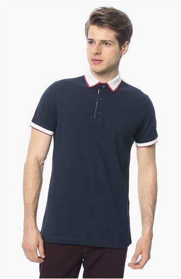 Polo Yaka Slım Fit Lacivert Tshirt