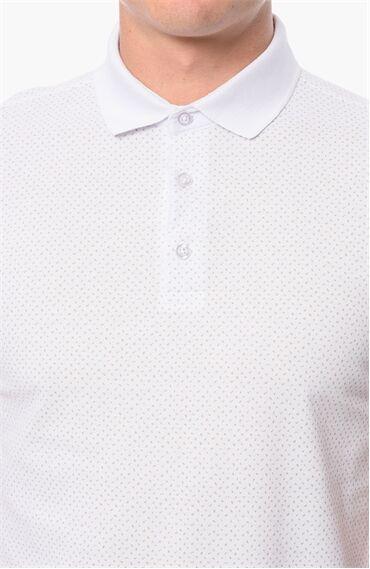 Polo Yaka Slım Fit Beyaz Bej Tshirt