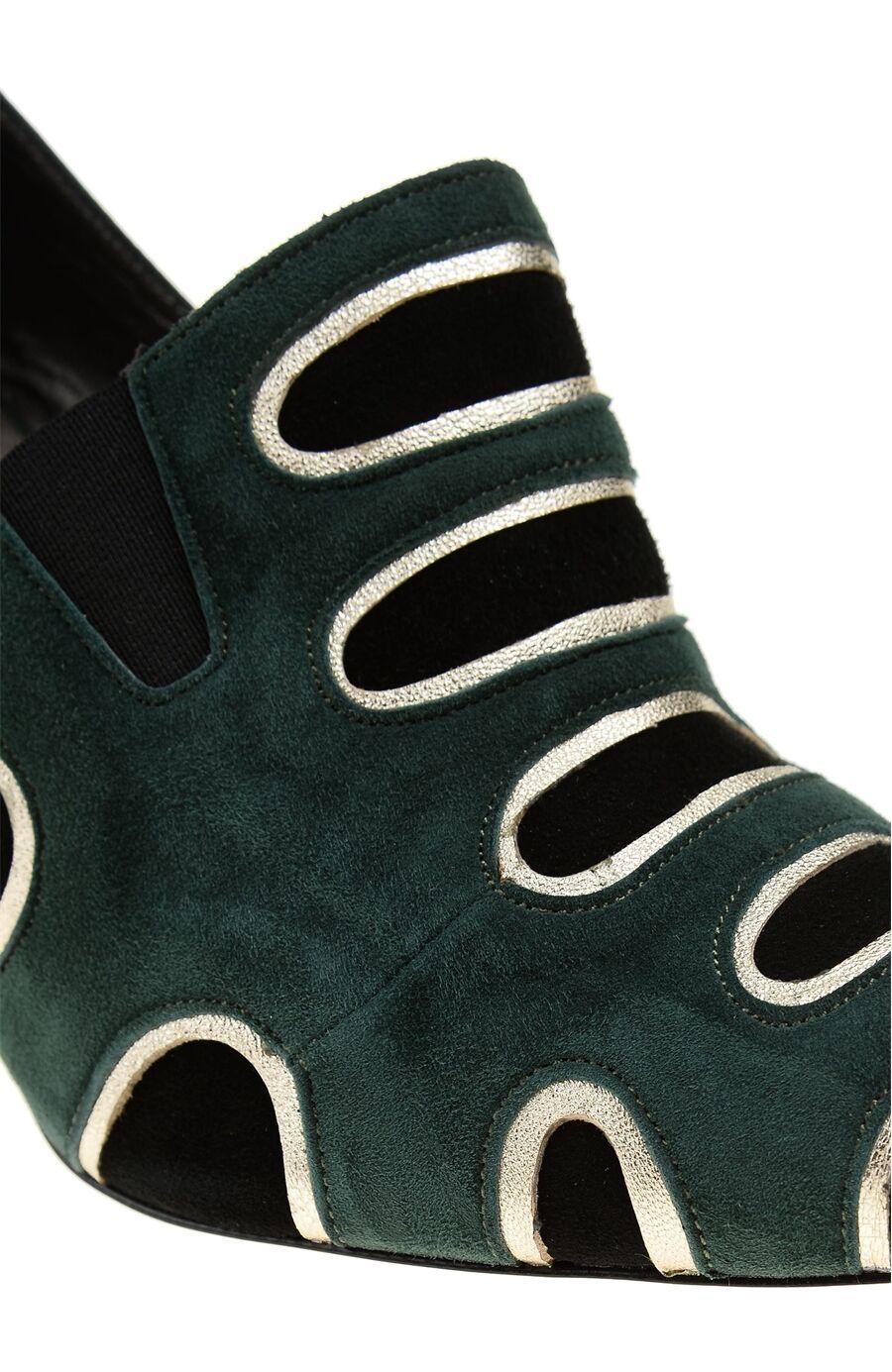 1950 Ler Koleksiyonu Yeşil Kadın Ayakkabı