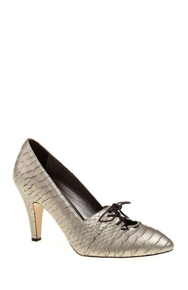 1950 Ler Koleksiyonu Gümüş Rengi Ayakkabı