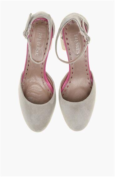 Su Yeşili Topuklu Ayakkabı