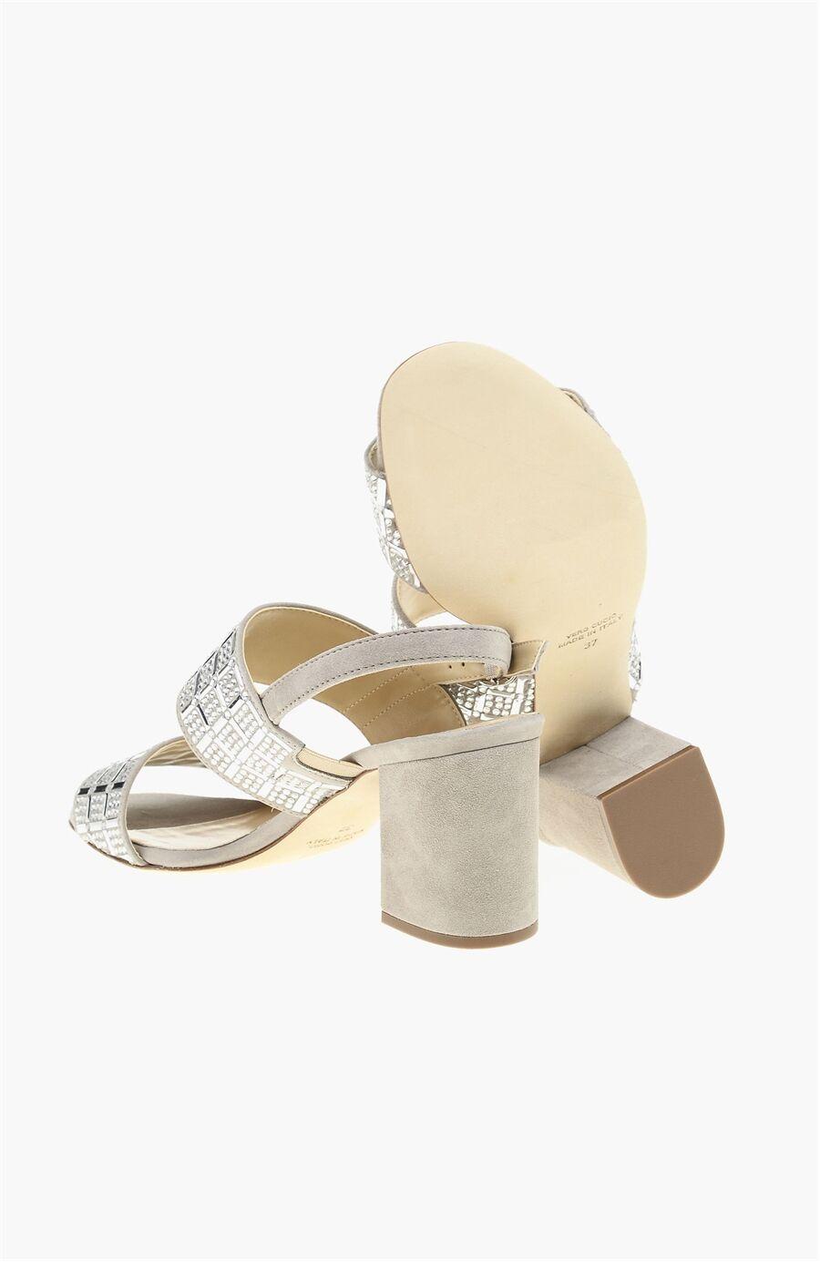 Süet Gri Kadın Sandalet