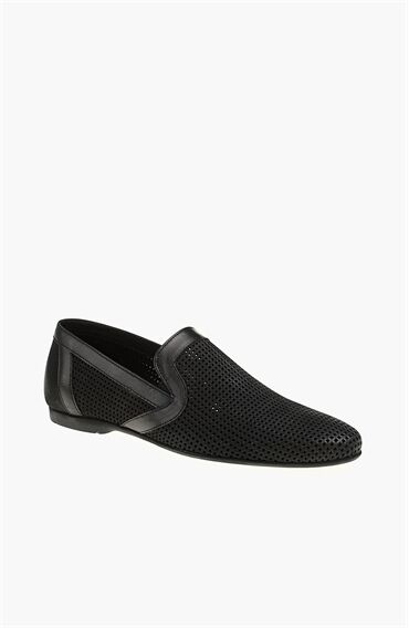 Nubuk Siyah Loafer