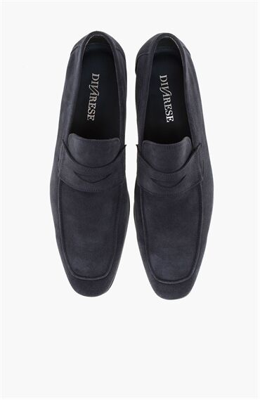 Süet Lacivert Loafer Ayakkabı