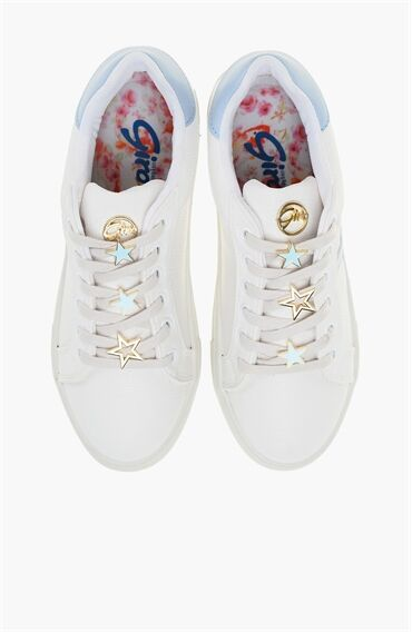 Beyaz Mavi Sneaker