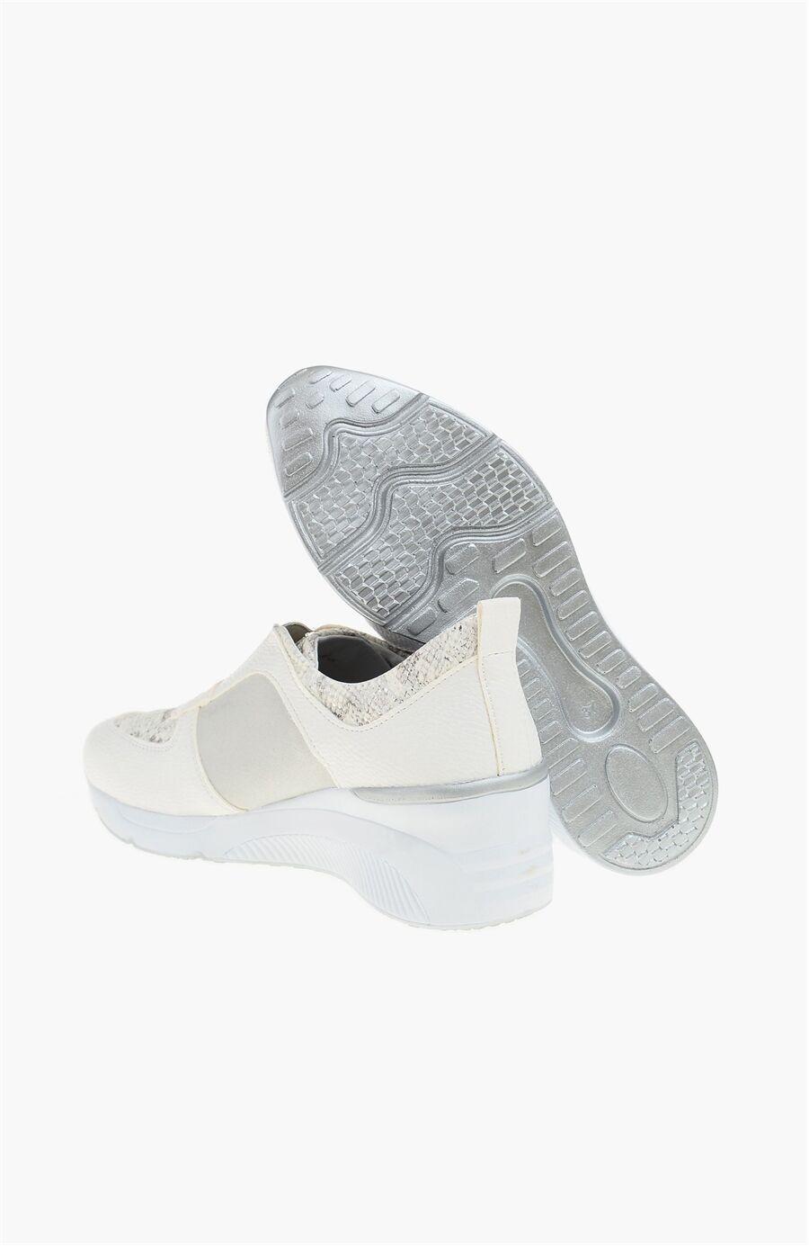 Beyaz Gri Sneaker