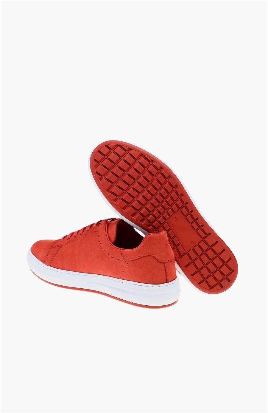 Nubuk Kırmızı Ayakkabı