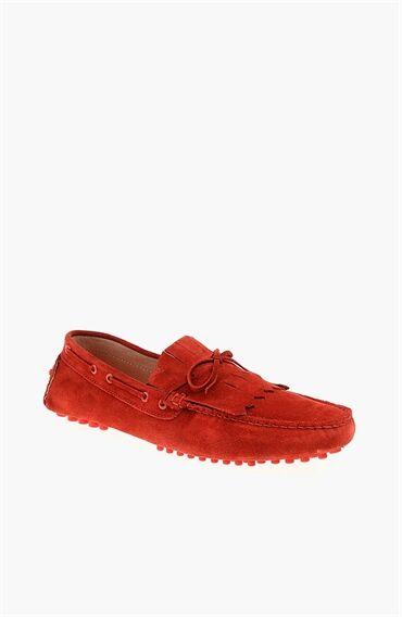 Süet Kırmızı Erkek Loafer