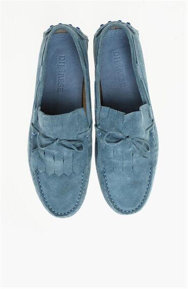 Süet Açık Mavi Loafer