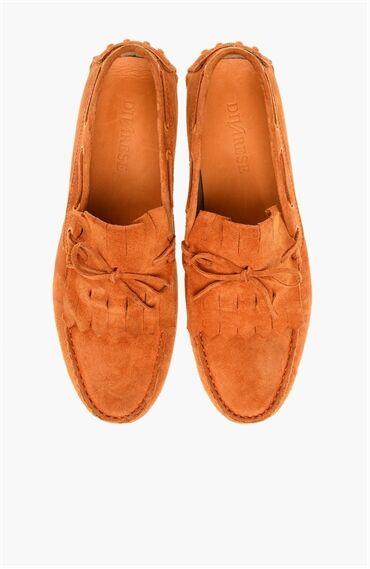 Süet Turuncu Loafer Ayakkabı