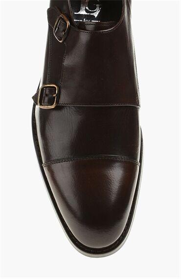 Kahverengi Deri Erkek Ayakkabı