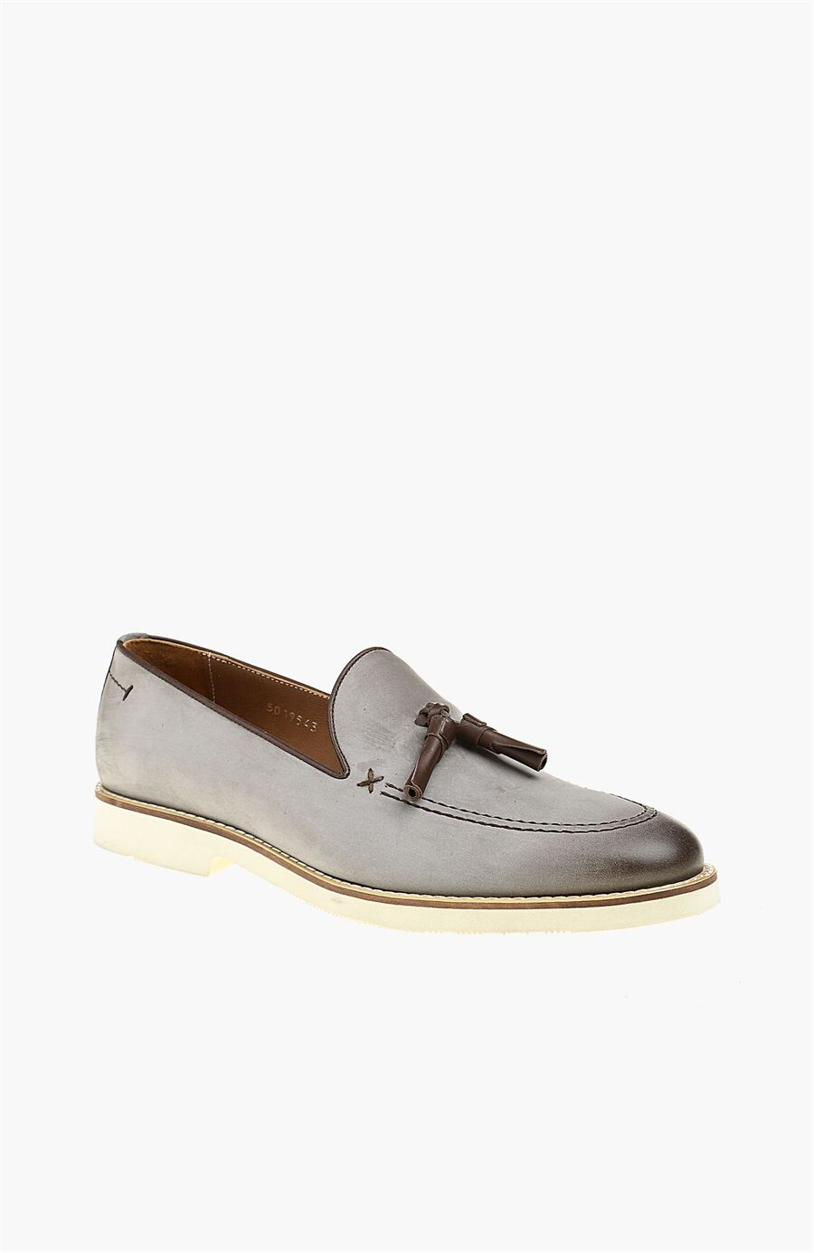 Nubuk Gri Loafer