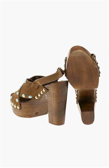Taşlı Taba Sandalet